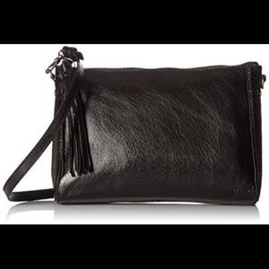 The Sac Pfieffer Demi Metallic Leather zip top bag